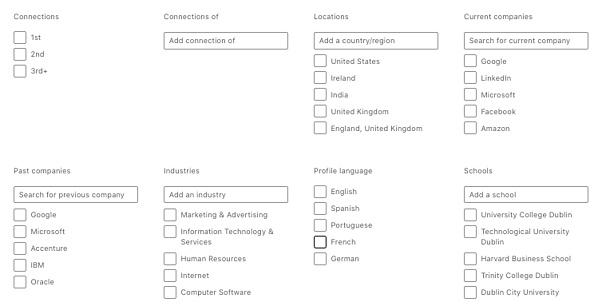 Search Function LinkedIn