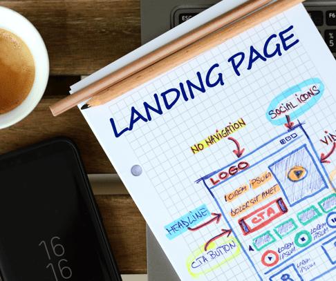 Landing Page Drawing